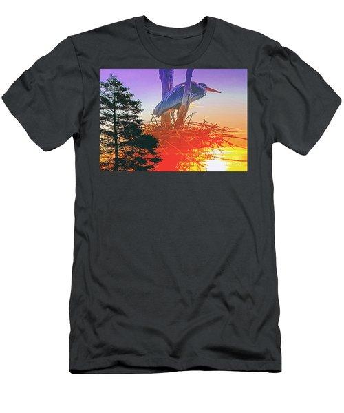 Nesting Heron - Summer Time Men's T-Shirt (Athletic Fit)