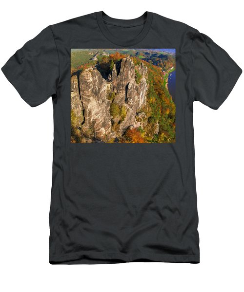 Neurathen Castle In The Saxon Switzerland Men's T-Shirt (Athletic Fit)