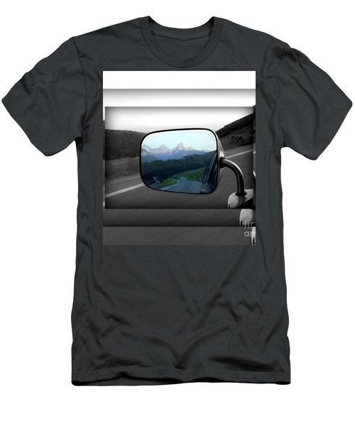 Looking Back Men's T-Shirt (Slim Fit) by Janice Westerberg
