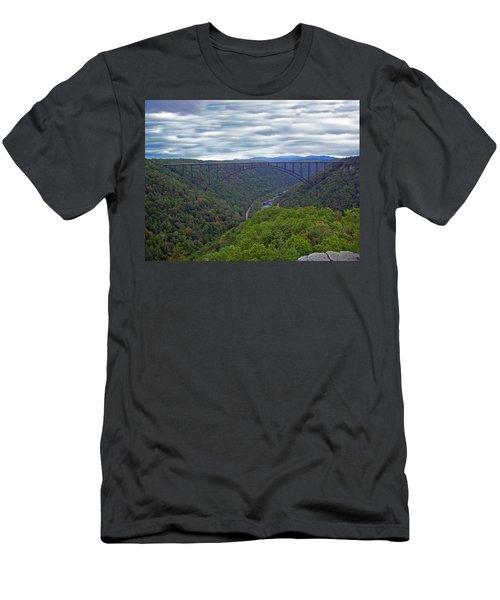 New River Bridge Men's T-Shirt (Slim Fit) by Aimee L Maher Photography and Art Visit ALMGallerydotcom