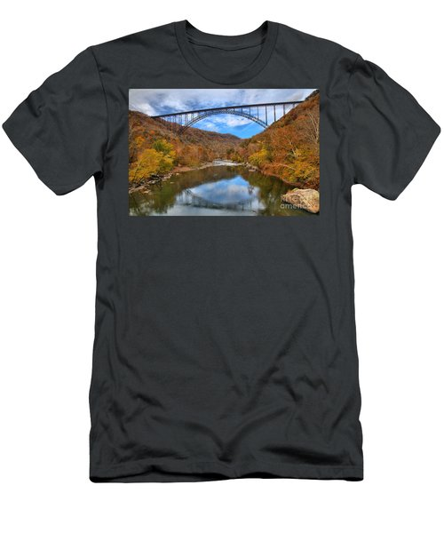 New River Gorge Reflections Men's T-Shirt (Athletic Fit)