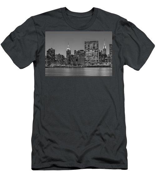 New York City Landmarks Bw Men's T-Shirt (Athletic Fit)