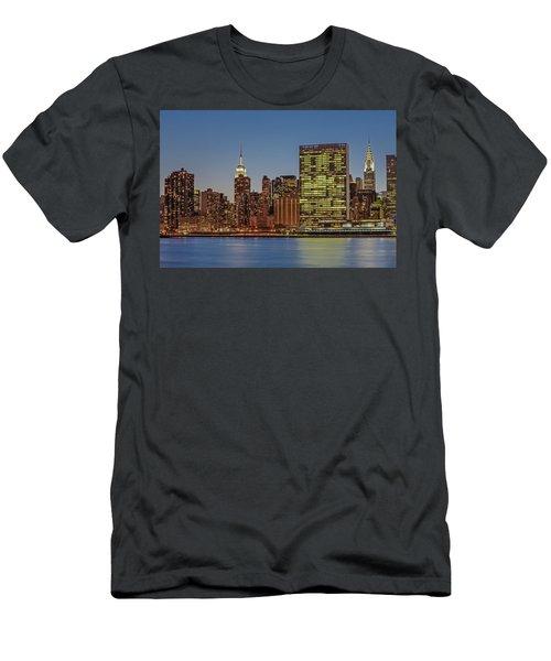 New York City Landmarks Men's T-Shirt (Athletic Fit)