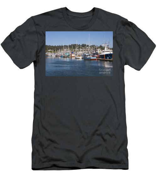 Men's T-Shirt (Athletic Fit) featuring the photograph Newport Marina by Bryan Mullennix