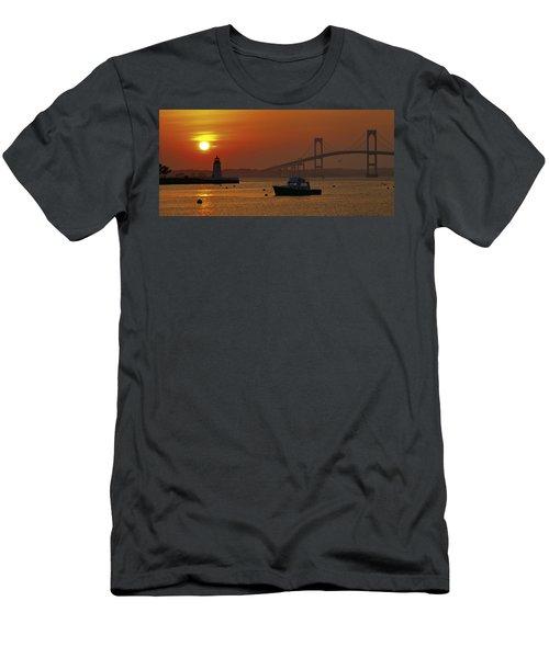 Newport Sunset Men's T-Shirt (Athletic Fit)