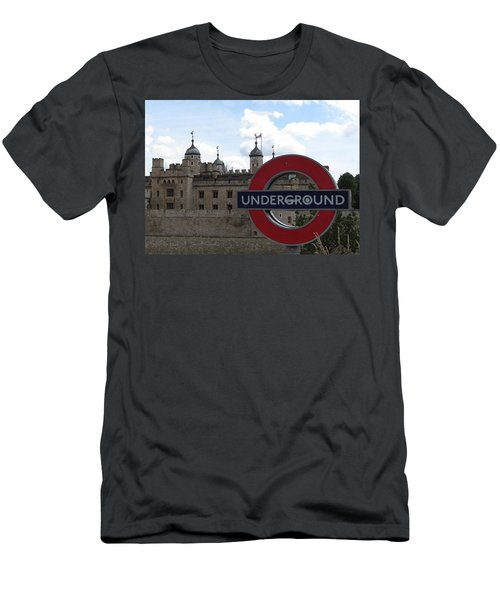 Next Stop Tower Of London Men's T-Shirt (Slim Fit) by Jenny Armitage