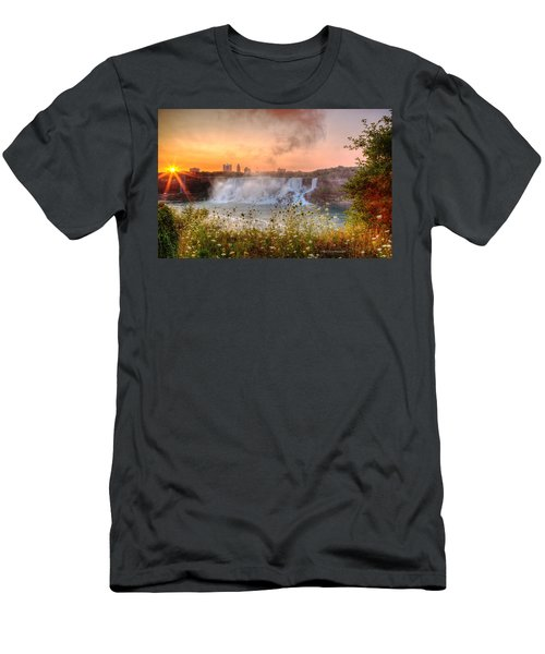 Niagara Falls Canada Sunrise Men's T-Shirt (Athletic Fit)