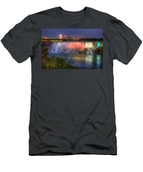 Niagara Falls Canada Sunset  Men's T-Shirt (Athletic Fit)