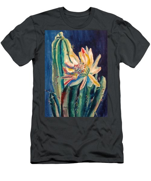 Night Blooming Cactus Men's T-Shirt (Athletic Fit)
