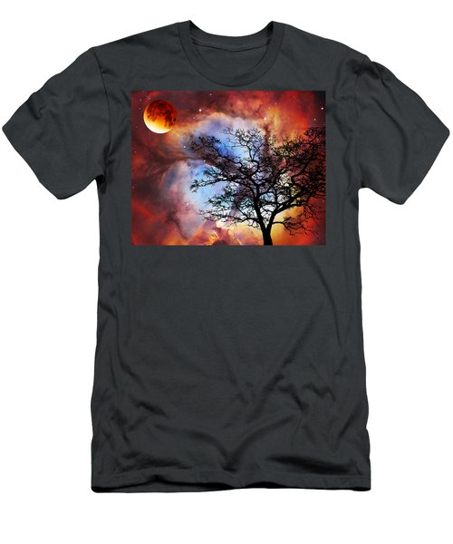 Night Sky Landscape Art By Sharon Cummings Men's T-Shirt (Athletic Fit)