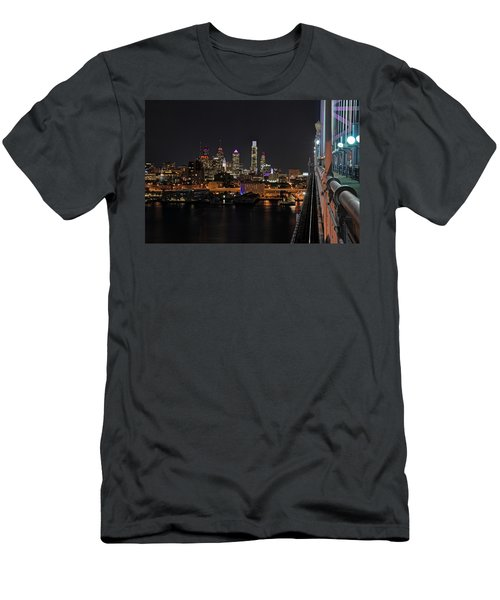 Nighttime Philly From The Ben Franklin Men's T-Shirt (Athletic Fit)