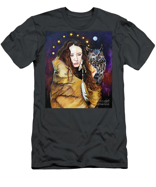 Nine Stars Woman / Owl Medicine Men's T-Shirt (Athletic Fit)