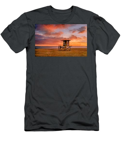 No Lifeguard On Duty At The Wedge Men's T-Shirt (Athletic Fit)