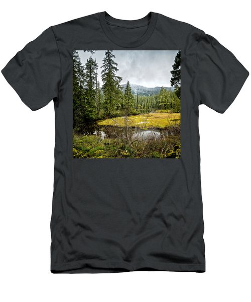 Men's T-Shirt (Athletic Fit) featuring the photograph No Man's Land by Belinda Greb