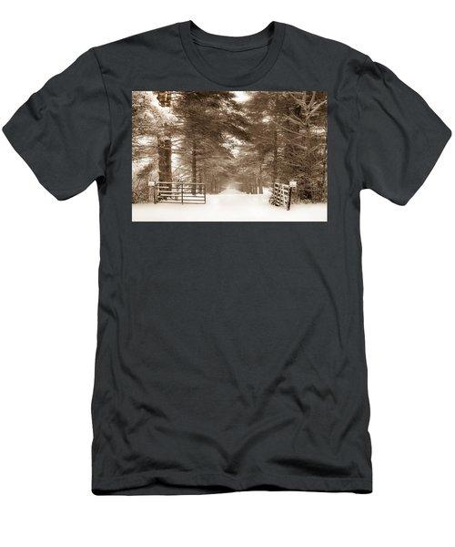 No Trespassing - Sepia Men's T-Shirt (Athletic Fit)