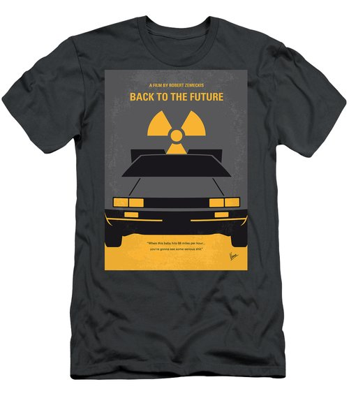No183 My Back To The Future Minimal Movie Poster Men's T-Shirt (Athletic Fit)