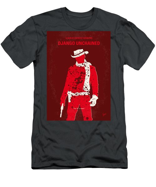 No184 My Django Unchained Minimal Movie Poster Men's T-Shirt (Athletic Fit)
