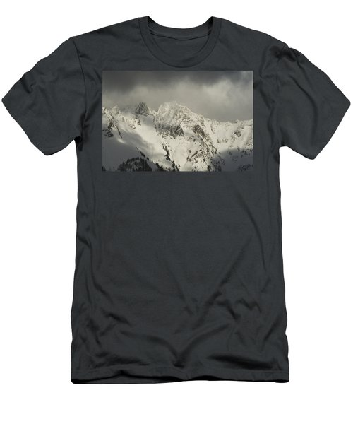 North Cascades Mountains In Winter Men's T-Shirt (Athletic Fit)