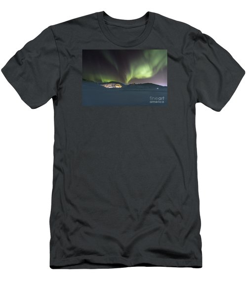 Northern Lights Iceland Men's T-Shirt (Slim Fit) by Gunnar Orn Arnason