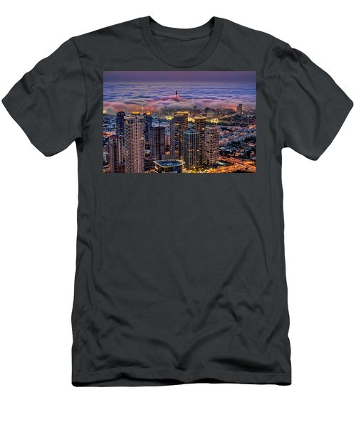 Men's T-Shirt (Athletic Fit) featuring the photograph Not Hong Kong by Ron Shoshani