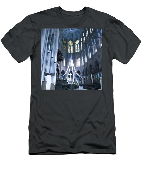 Notre Dame Altar Teal Paris France Men's T-Shirt (Athletic Fit)