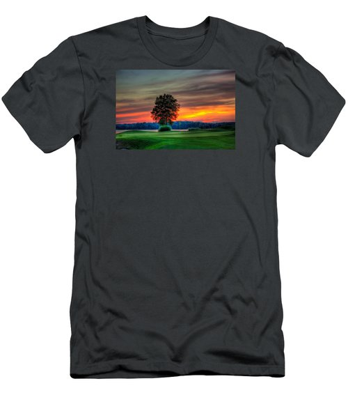 Number 4 The Landing Men's T-Shirt (Slim Fit) by Reid Callaway