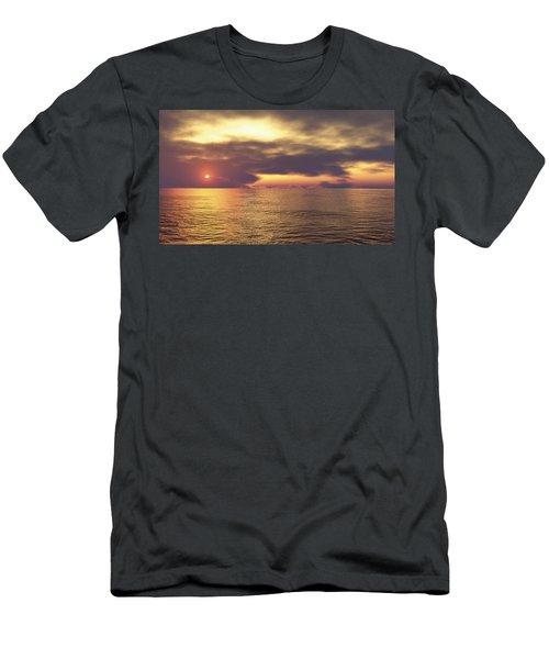 Men's T-Shirt (Slim Fit) featuring the digital art Ocean 2 by Mark Greenberg