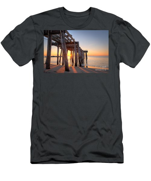 Ocean Grove Pier Sunrise Men's T-Shirt (Athletic Fit)
