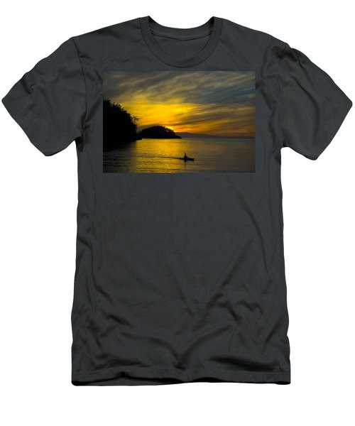 Ocean Sunset At Rosario Strait Men's T-Shirt (Athletic Fit)