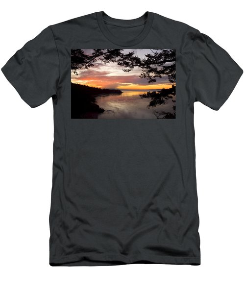 Ocean Sunset Deception Pass Men's T-Shirt (Athletic Fit)