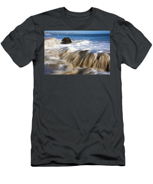 Ocean Waves Breaking Over The Rocks Photography Men's T-Shirt (Athletic Fit)