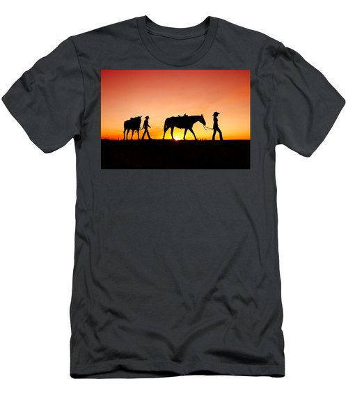 Men's T-Shirt (Athletic Fit) featuring the photograph Off To The Barn by Todd Klassy