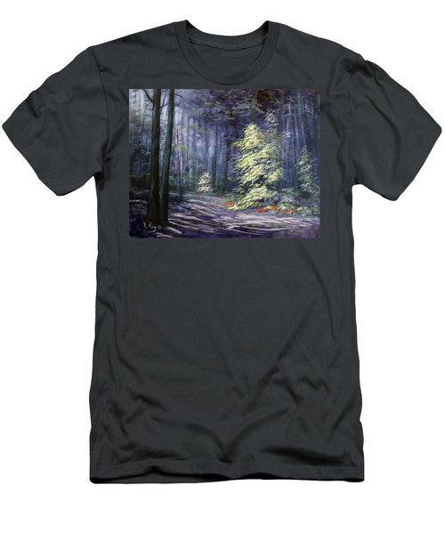 Oil Painting - Forest Light Men's T-Shirt (Athletic Fit)