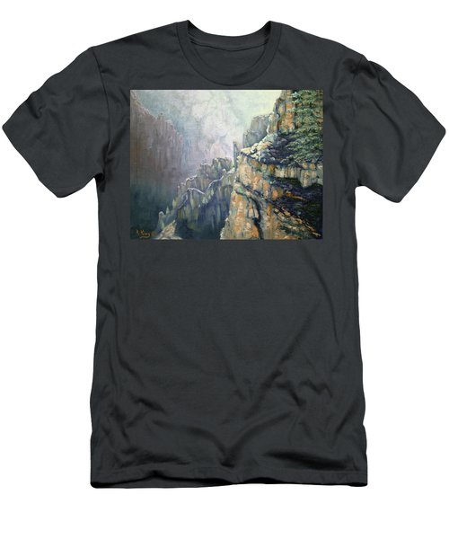 Oil Painting - Majestic Canyon Men's T-Shirt (Athletic Fit)