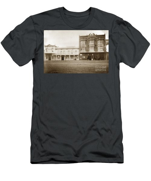 Old And New Salinas Hotel Was On West Market Street Circa 1885 Men's T-Shirt (Athletic Fit)