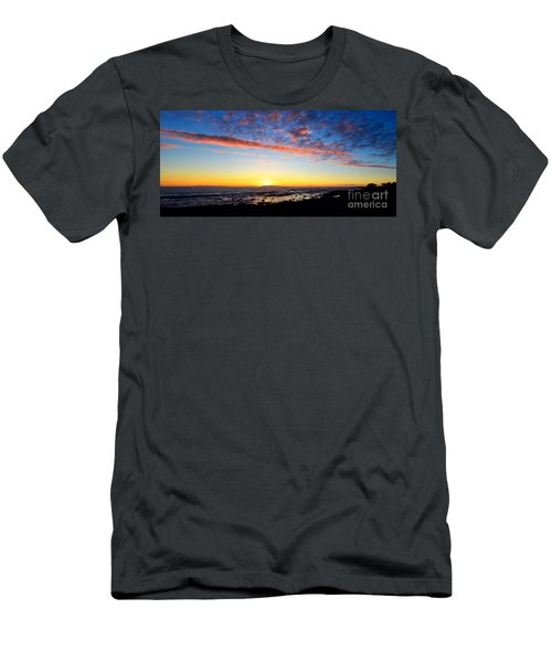Men's T-Shirt (Slim Fit) featuring the photograph Old A's Panorama by David Lawson