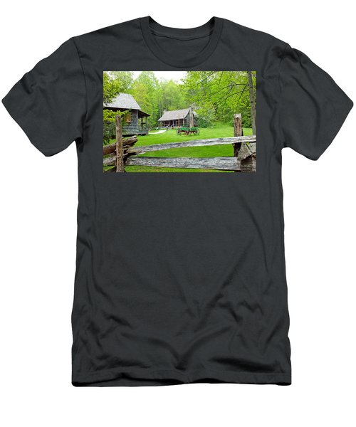 Old Cabins At The Cradle Of Forestry Men's T-Shirt (Athletic Fit)