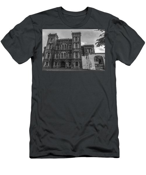 Old City Jail In Black And White Men's T-Shirt (Athletic Fit)