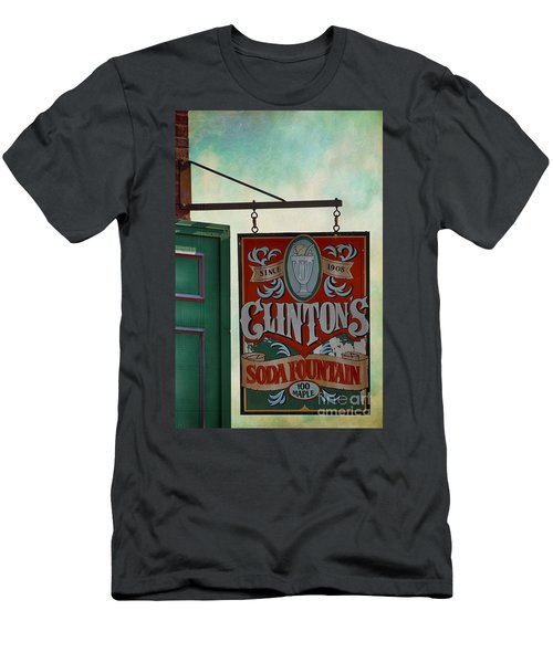 Old Clinton's Soda Fountain Sign Men's T-Shirt (Athletic Fit)