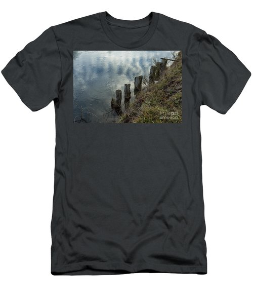 Old Dock Supports Along The Canal Bank - No 1 Men's T-Shirt (Athletic Fit)