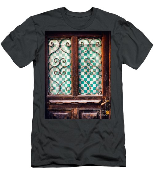 Men's T-Shirt (Slim Fit) featuring the photograph Old Door by Silvia Ganora