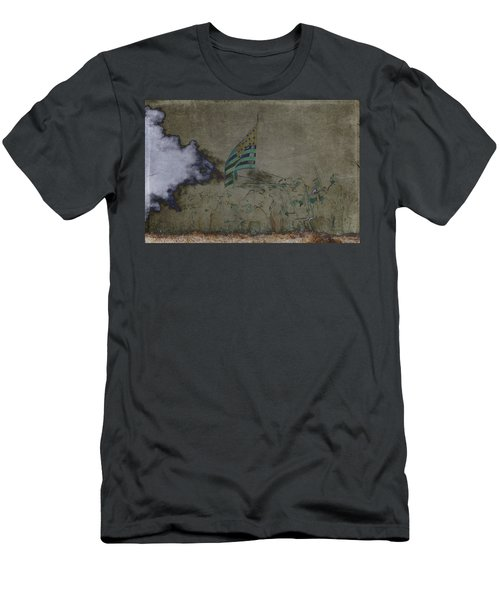 Old Glory Standoff Men's T-Shirt (Slim Fit) by Wes and Dotty Weber