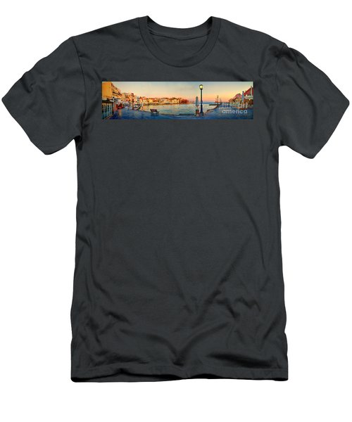 Old Harbour In Chania Crete Greece Men's T-Shirt (Athletic Fit)