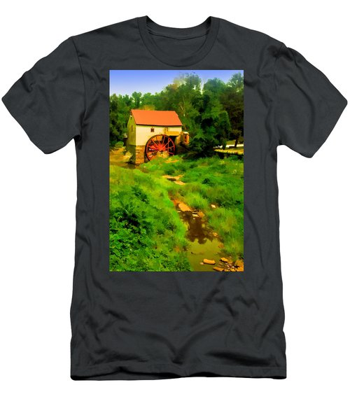 Old Mill In Springtime Men's T-Shirt (Athletic Fit)