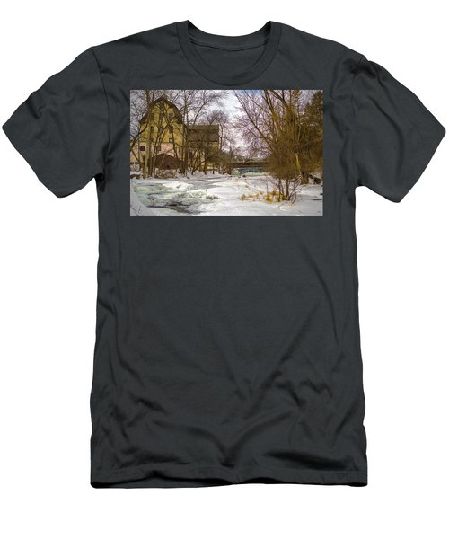 Old Mill Winter Men's T-Shirt (Athletic Fit)