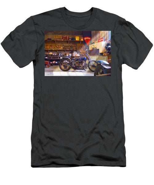 Old Motorcycle Shop 2 Men's T-Shirt (Slim Fit) by Mike McGlothlen