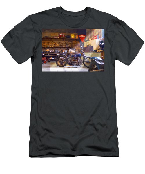 Old Motorcycle Shop 2 Men's T-Shirt (Athletic Fit)