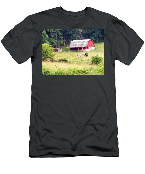Old Red Barn West Of Brevard Nc Men's T-Shirt (Athletic Fit)