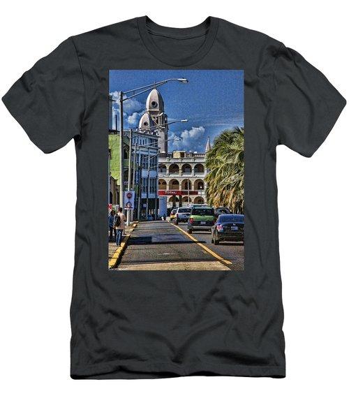 Old San Juan Cityscape Men's T-Shirt (Athletic Fit)