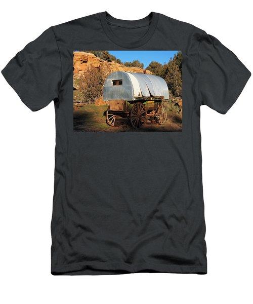 Old Sheepherder's Wagon Men's T-Shirt (Slim Fit) by Nadja Rider